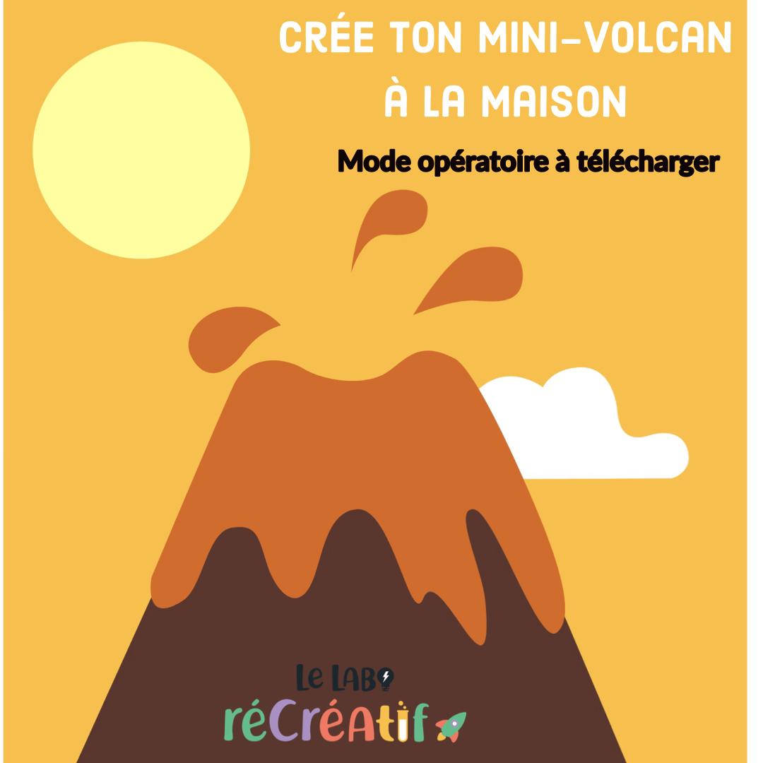 Crée ton mini-volcan à la maison