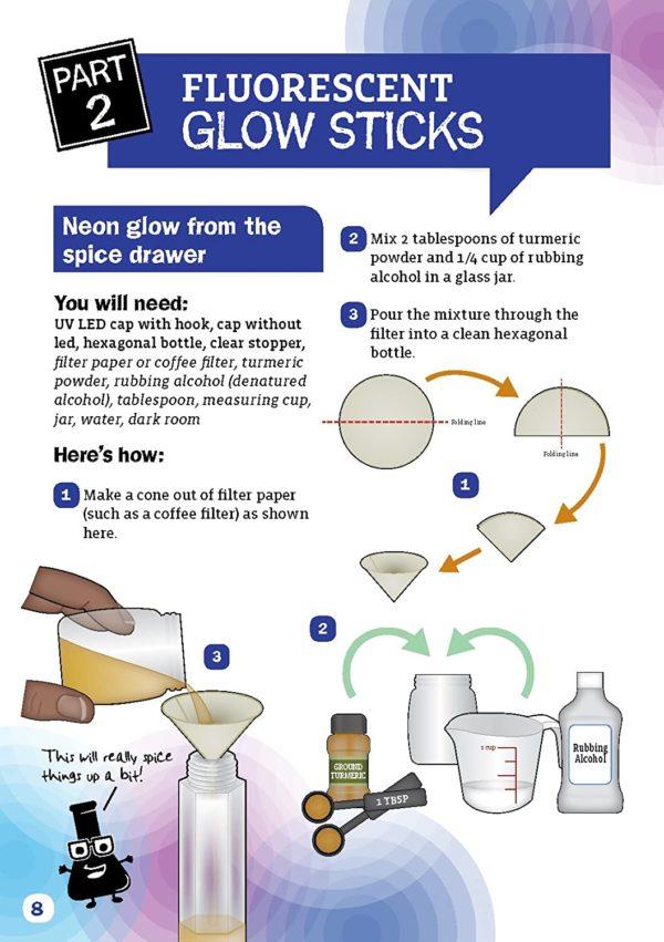 Glow stick lab : expérience