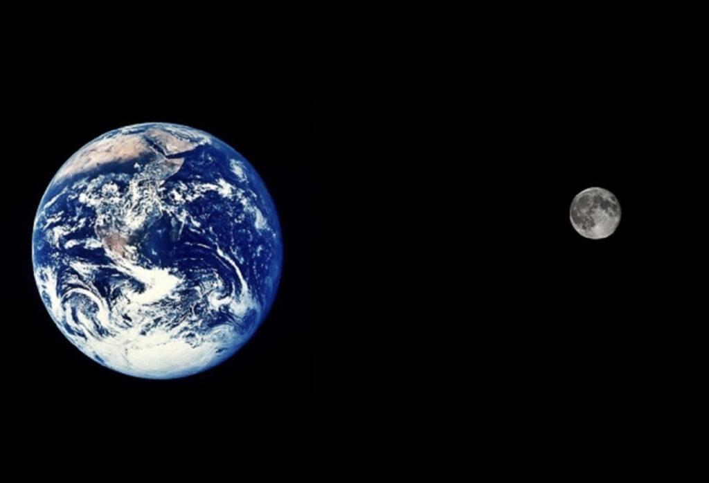La Terre et son satellite naturel : la Lune du site http://khayyam.eklablog.com/satellites-naturels-des-planetes-de-notre-systeme-solaire-a132568930