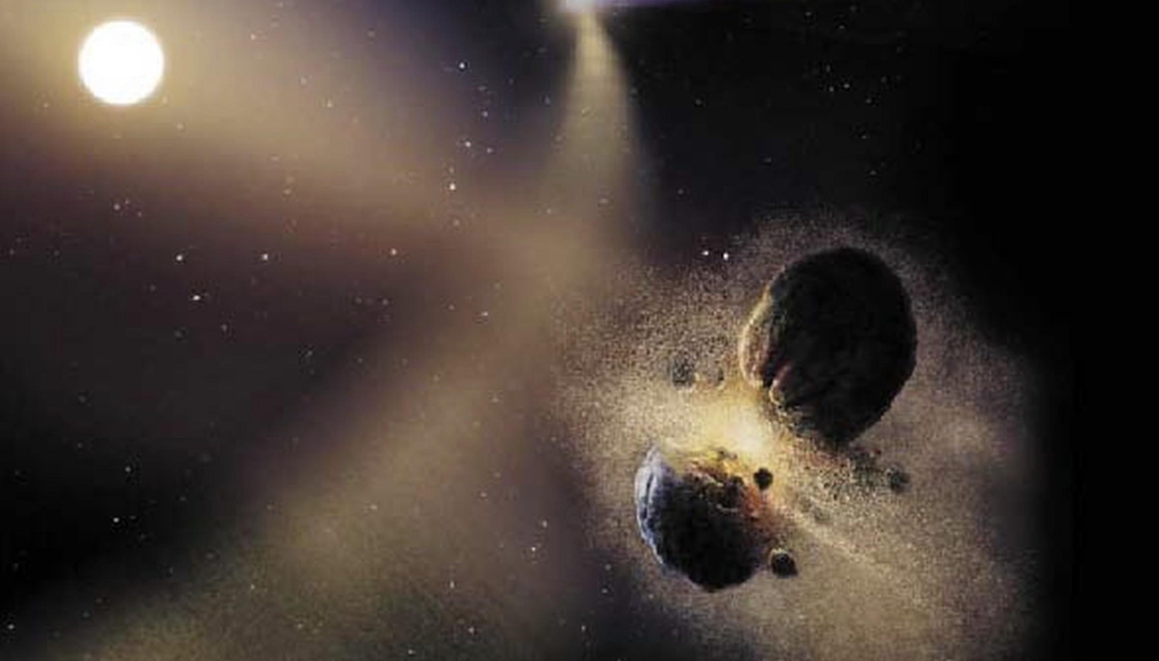 Poussière dans le système solaire du site https://www.pourlascience.fr/sd/astronomie/des-poussieres-dans-les-systemes-planetaires-5957.php