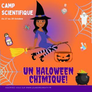 Camp scientifique Halloween chimique